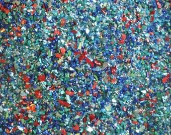 Blue Tungsten German Glass Glitter