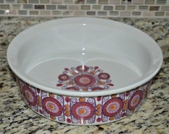Figgjo Fajanse Barcarole Casserole Dish Rare 9.25 x 2.5 Size Excellent Condition  FREE SHIPPING