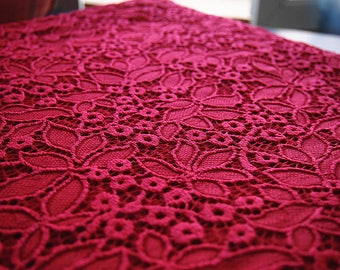 Beautiful lace heavy quality stretchy fingerless lace red 150 * 35 cm