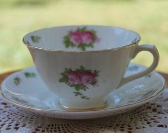 COLLINGWOODS Bone China Teacup and Saucer Set