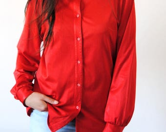 Vintage red shirt - taille40 - straight cut
