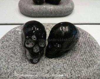 Two Mini Skull Charcoal Soaps