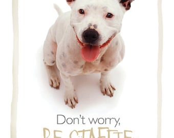 Staffy staffordshire bull terrier card
