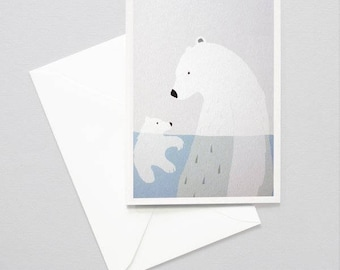 Greeting card - polar bears