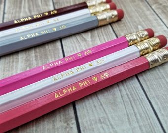 ALPHA PHI | 3 or 6 Pack Pencil Set