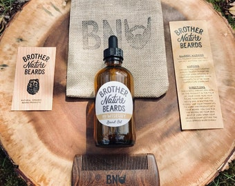 Grooming Kit: Beard Oil and Comb