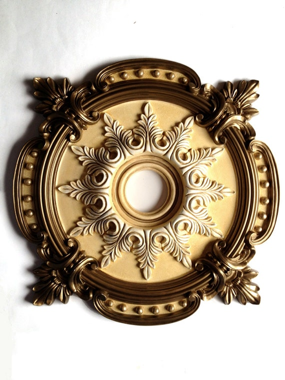 Items Similar To Ceiling Medallion Milan Painted Brass For