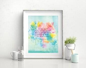 "Lemony Snicket Print, Wall Art, Encouragement, 8"" x 10"""