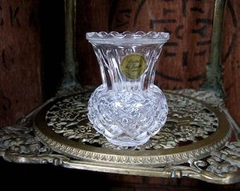 Cristal De Flandre Vase, French Vintage, French Crystal, Lead Crystal Vase, Cut Glass Vase, Small Vase, Bud Vase, Posy Vase, Posy Holder