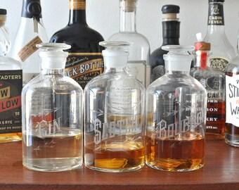 Liquor Decanters - Hand Engraved Barware - Bourbon, Scotch, Gin, etc. - Housewarming Gifts