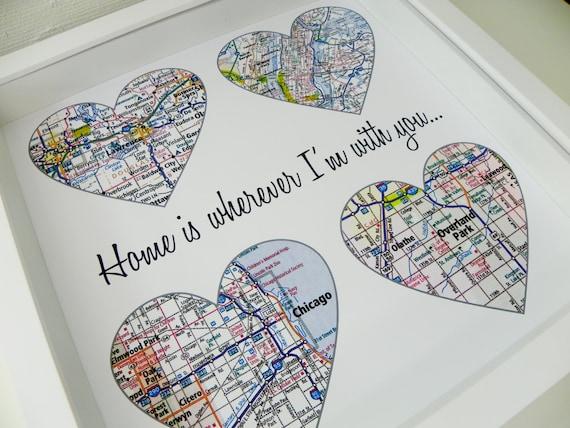 cadeau personnalis pour couple mariage carte coeur carte. Black Bedroom Furniture Sets. Home Design Ideas