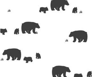 Bear Crib Bedding Black White Bear Crib Sheet - Woodland Nursery Bedding -Mini Crib Bedding Set -Changing Pad Covers -Fitted Crib Sheets