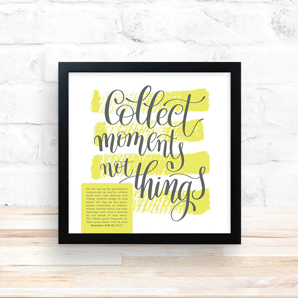 Collect Moments Sign Wall Decor Inspirational Words Wall
