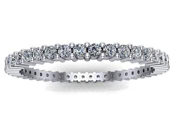 Diamond Full Eternity Ring on 18K White Gold