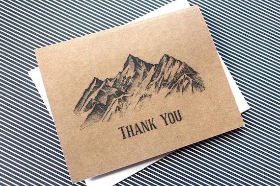 100 Thank You Cards Bulk Thank You Cards Mountain Wedding