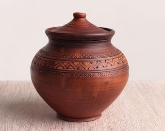 Ceramic pitcher, stoneware, brown, pottery, handmade, ceramic pot, rustic pot, clay pot, eco friendly, large ceramic pot,