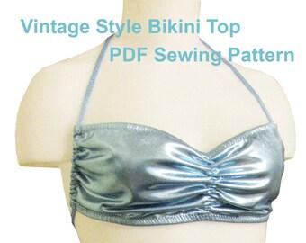 Vintage Style Bikini Top (6 Sizes)
