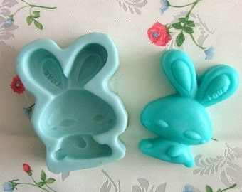 Rabbit Silicone Mold Silicone Mould Candy Mold Chocolate Mold Soap Mold Polymer Clay Mold Resin Mold R0122