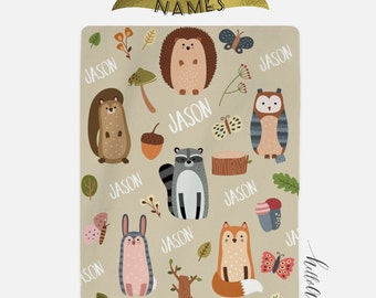 Personalized Baby blanket - Rabbit nursery - Personalized swaddle - Newborn baby boy - Baby blanket personalized - Baby shower gift