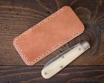 "Pocket knife slip case, size Small, for knives up to 3.75"" closed length (MADE-TO-ORDER)"