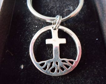 Rooted in cross key ring quarter size