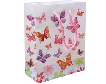 Pink small bag gift box with cord handle 20 cm