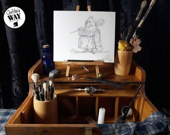 ORIGINAL ART - Grümpff the Troll