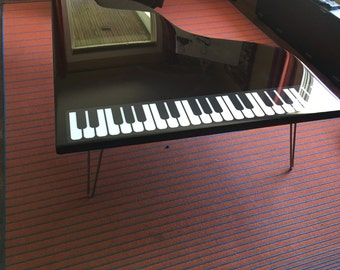Baby Grand Piano Coffee Table perfect for music room, living room, man cave and more!