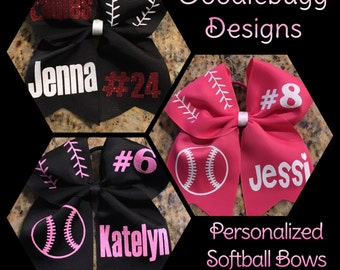 Personalized Softball Bow!!