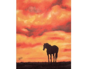 Matted fine art print of one of my original oil painting