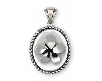 Plumeria Pendant Jewelry Sterling Silver Handmade Flower Pendant PLM1-VP