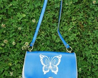 Girls' purse, handbag with butterfly print
