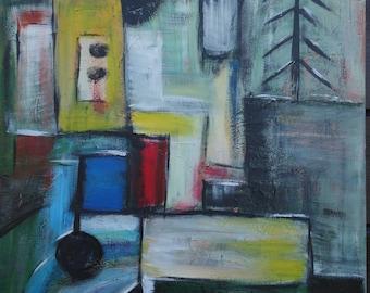 City according to P. Klee, Canvas 70 cm x 50 cm