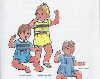 Children's Corner Sewing Pattern #53 / BABY BUBBLES / Sizes 18 - 24 mos
