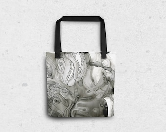 "Abstract Octopus Tote Bag - 15""x15"""