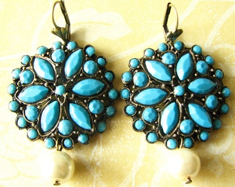 Turquoise Jewelry Bridesmaid Gift Turquoise Earrings Bridal Earrings Dangle Earrings Drop Earrings