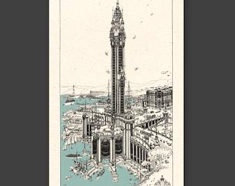 TORRE della PACE -  skyscraper project - FREE shipping