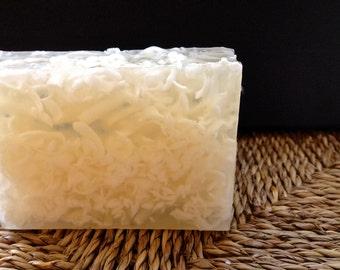 Coconut Soap - Coconut Oil Soap - Handmade Soap - Glycerin - Vegan - Detergent Free - Beach Soap - Tropical Soap - Hawaiian Soap