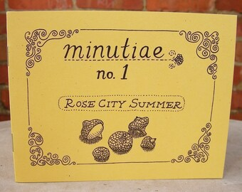 "Zine ""Minutiae No. 1: Rose City Summer"" // Illustration zine / art zine / Portland Oregon / perzine / bicycle / summer / motorcycle"