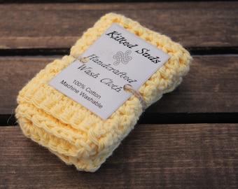 Yellow Washcloth   Yellow Cotton Washcloth   Cotton Washcloth   Cotton Dishcloth   Crochet Washcloth   Yellow Dishcloth   Yellow Facecloth