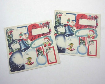 Set of 20 Assorted Vintage Christmas Tags or Cards
