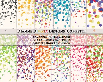 Popular Items For Confetti Wallpaper