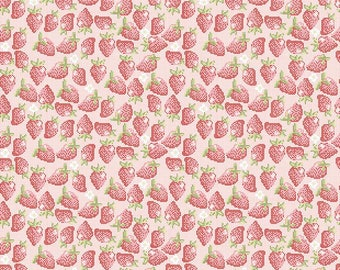 """SALE Riley Blake Designs """"Into The Garden"""" by Amanda Herring- 100% cotton Fabric-Pink - Strawberry"""