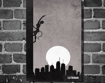 Catwoman Climb movie poster minimalist poster comic book print comic book art