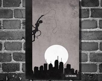 Catwoman Climb movie poster minimalist poster comic book print comic book art