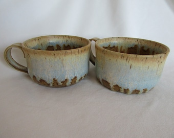 Stoneware Soup Mugs - Pair