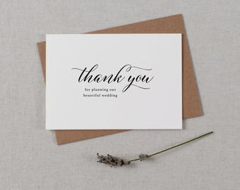 Thank you for Planning our Wedding - Card for Wedding Planner - Wedding Planner Card, Wedding Thank You Cards, Wedding Organizer Card, K2
