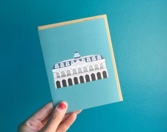The Cabildo Historic Museum Preservation, Historic Building Architecture Louisiana, New Orleans Greeting Card