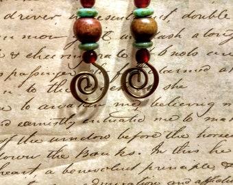 Swirly Boho earrings