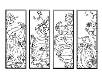 DIY Pumpkin Bookmarks-Psalm 9 Coloring-Color Your Own Bookmark-Double Sided-Scripture on Back-Instant Download-Fall-Adult Coloring Page 7